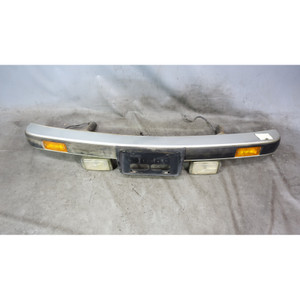 BMW E30 3-Series Early Factory Front Aluminum Diving Board Bumper w Fogs OEM - 34136