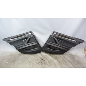2011-2016 BMW F10 5-Series Rear Interior Door Panels for Shades Black Leather OE - 34245