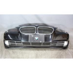 2011-2013 BMW F10 5-Series Factory PDC Front Bumper Cover Trim Black Sapphire - 34251