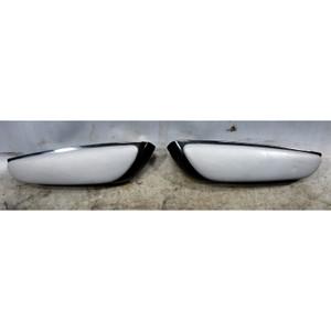 Damaged 01-06 BMW E46 M3 Convertible Rear Armrest Pair Grey Leather W/ Black OEM - 34339