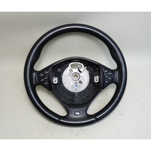 BMW E39 5-Series E38 M ///M Sports Steering Wheel Black Leather Buttons 00-01 - 34347