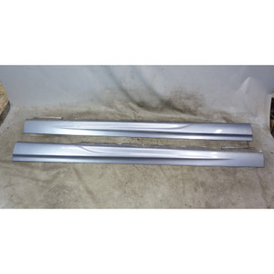 1999-2005 BMW E46 3-Series 4door M Aero Side Skirt Rocker Panel Steel Grey OEM - 34364