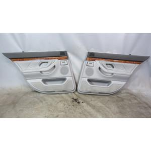 1997-2001 BMW E38 740i Short Rear Int Door Panel Trim Skin Pair for Shades Grey - 34389
