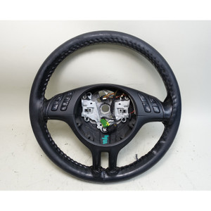 2000-2006 BMW E46 3-Series Factory Sports Steering Wheel w Multifunction Buttons - 34394