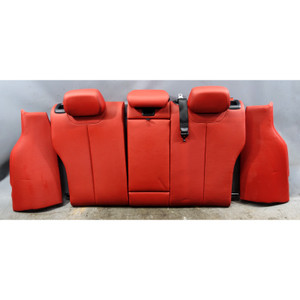 2014-2015 BMW F31 3-Series Touring Rear Folding Seat Backrest Coral Red Leather - 34452