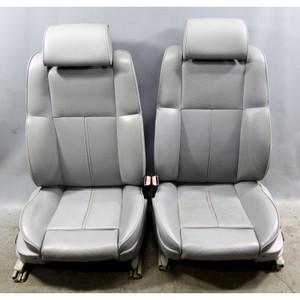 1998-2001 BMW E38 7-Series Factory Front Contour Seat Pair Set Grey Leather OEM - 34454