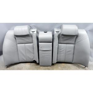 1996-2001 BMW E38 7-Series Contour Rear Seat Backrest w/o Heat Grey Leather OEM - 34455