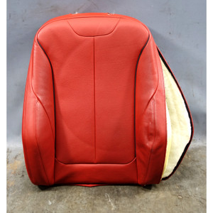 Damaged 12-16 BMW F30 Sedan F31 3-Series Front Right Seat Backrest Coral Red OEM - 34457