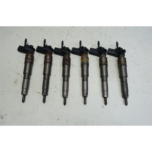 2009-2013 BMW E90 335d E70 35d M57N2 3.0L 6-Cyl Diesel Fuel Direct Injector Set - 34490