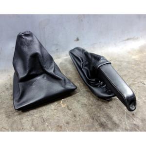 2004-2007 BMW E83 X3 Black Leather Manual Shift Boot and E-Brake Cover OEM - 34526