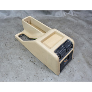 1989-1990 BMW E34 5-Series Early Model Center Console w/ Vents Natural Beige OEM - 34557