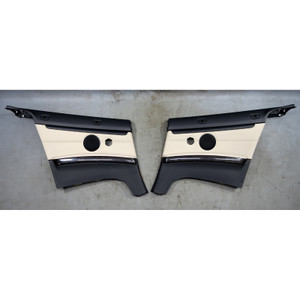 2011-2013 BMW E93 3-Series Convertible Rear Interior Trim Panel Oyster Leather - 34565