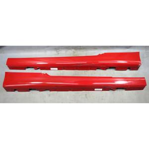 2010-2013 BMW E92 E93 3-Series 2door Outside Side Skirt Panel Pair Crimson Red - 34566