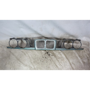 1989-1995 BMW E34 5-Series 6-Cyl Front Nose Panel w Narrow Kidney Grilles Green - 34577