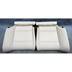 2010-2013 BMW E93 3-Series Convertible Rear Seat Bottom Buckets Oyster Beige OEM - 34587
