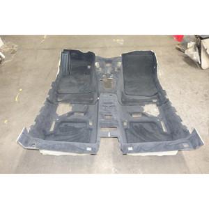 2007-2013 BMW E93 3-Series Convertible Interior Floor Covering Carpet Set Black - 34594