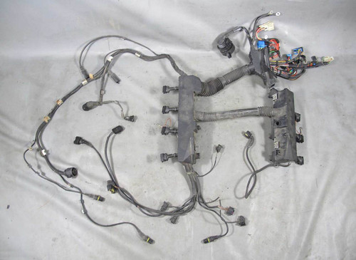 BMW E38 740 M62TU Late Engine Wiring Harness Complete 3/00-2001 USED OEM