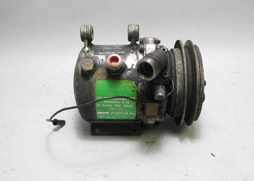 BMW Bosch Behr Single Wire AC Compressor Pump E28 E30 1982-1991 USED OEM 208