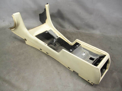 1999-2001 BMW E38 7-Series Leather Center Console Pearl Beige Oyster Stitched OE - 21572