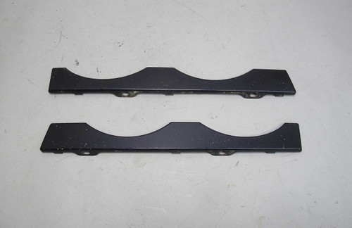 1999-2001 BMW E39 7-Series Front Lower Headlight Trim Covers Orient Blue OEM - 21578
