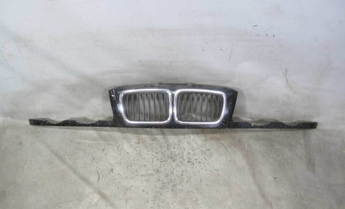BMW E34 5-Series Wide Kidney Grille Front Nose Panel Black 2 1991-1995 OEM - 22392