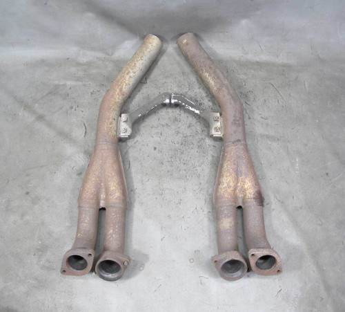 1994 BMW E34 530i 3.0L V8 M60 Factory Front Exhaust Down Y-Pipes Flanges OEM - 22400