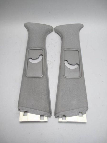 1992-1995 BMW E34 5-Series Interior B- Pillar Column Upper Cover Pair Silver Grey - 22402