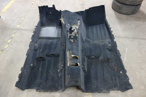 BMW E36 3-Series Coupe Sedan Factory Front Floor Covering Carpet Section Black - 23600