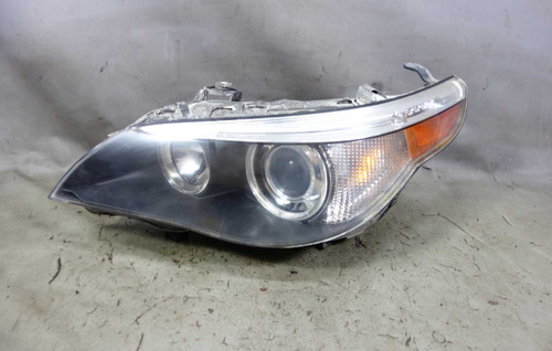 2005-2007 BMW E60 5-Series E61 Left Front Xenon Adaptive Headlight White Lens OE - 25024