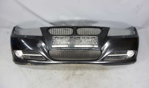 2009-2012 BMW E90 3-Series E91 Factory Front Bumper Cover Trim Black Sapphire OE - 25467