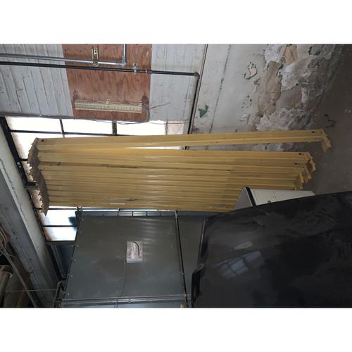 "Lot of 17 Assorted Warehouse Pallett Racking Teardrop Beams 96"" 108"" - 25710"