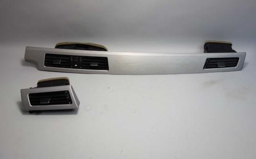 BMW 2004-2010 5-Series E60 Front Interior Dash Trim Brushed Aluminum w Vents OEM - 26019