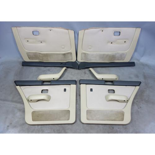 1983-1984 BMW E28 5-Series Int Door Panel Trim Skin Set Front Rear Pearl Vinyl - 28913