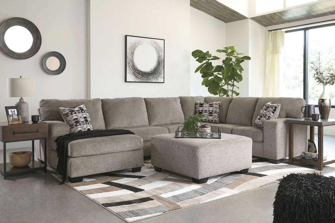 Sensational Ashley Ballinasloe Platinum Laf Corner Chaise Armless Loveseat Raf Sofa Couch Sectional Accent Ottoman Gmtry Best Dining Table And Chair Ideas Images Gmtryco