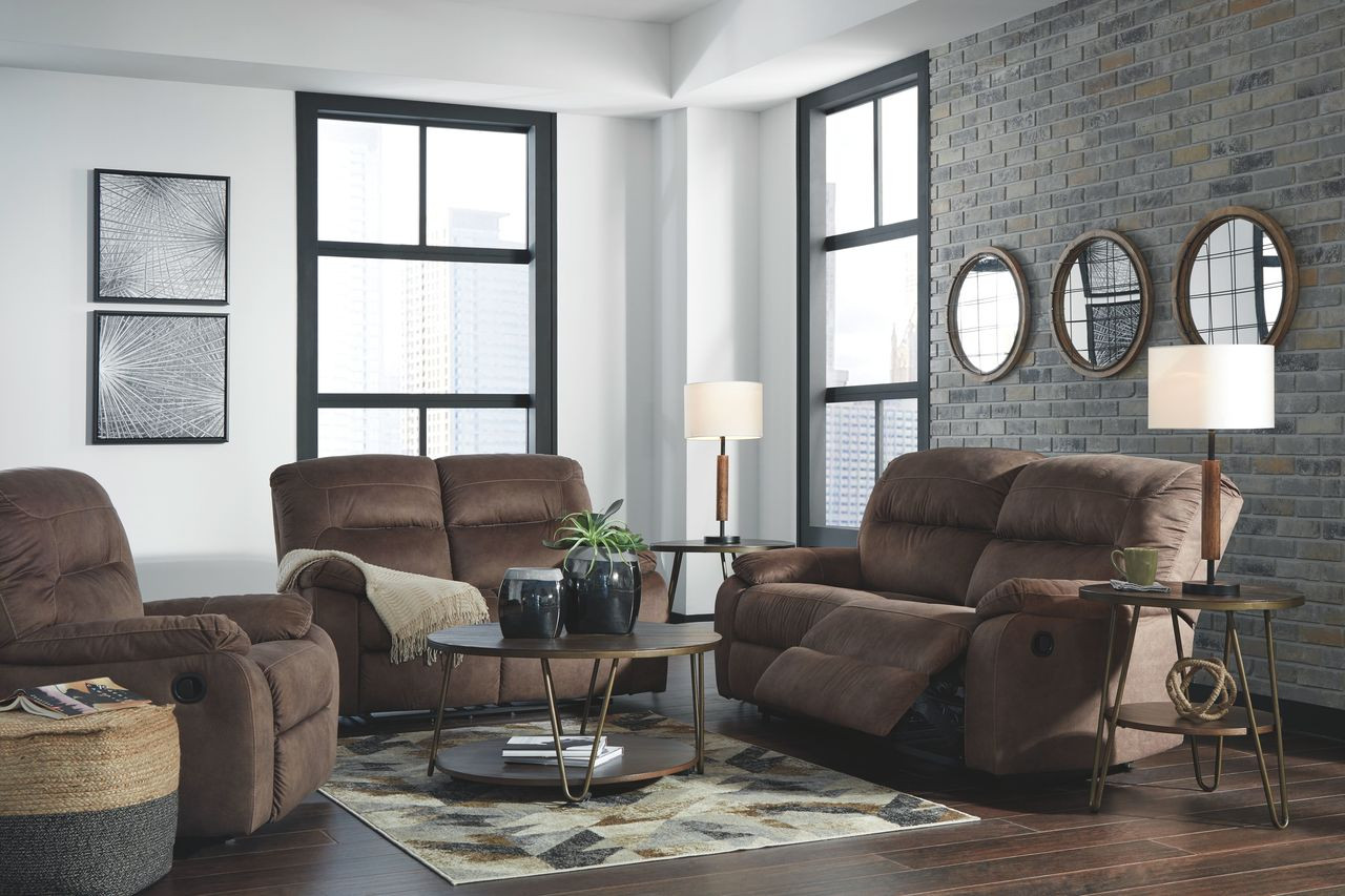Miraculous Ashley Bolzano Coffee 2 Seat Reclining Sofa Couch Reclining Loveseat Rocker Recliner Caraccident5 Cool Chair Designs And Ideas Caraccident5Info