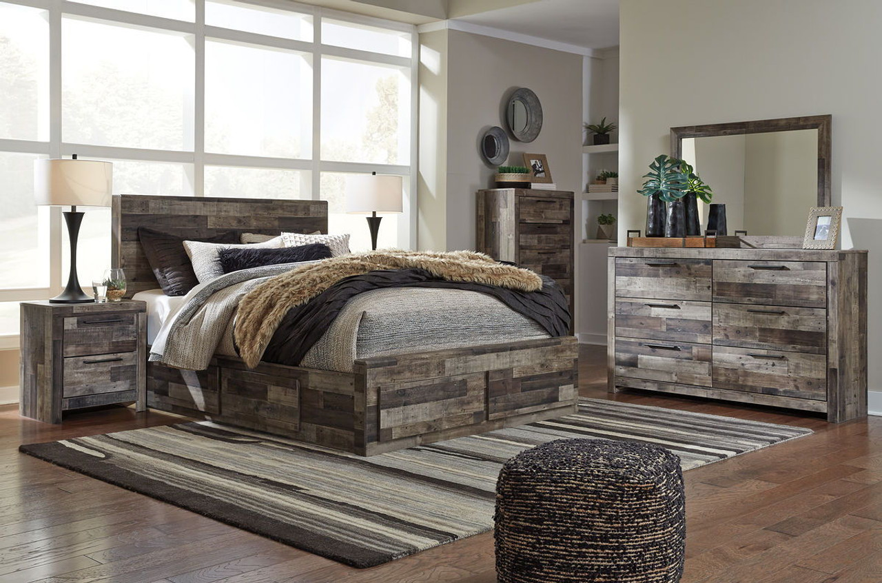 Ashley Derekson Multi Gray 8 Pc. Queen Bedroom Collection on sale at ...