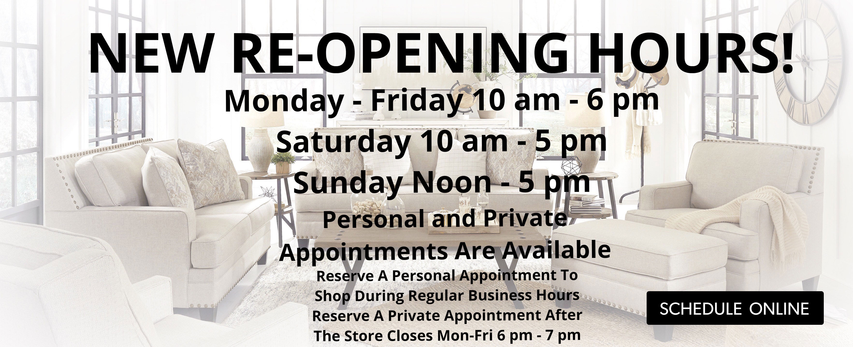 new re-opening hours