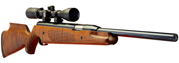 Keen's Tackle & Guns Stock The Air Arms Pro Sport Walnut Air Rifle with recessed aluminium underlevel and automatic safety on trigger unit.