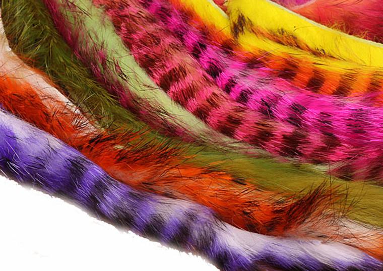 Barred Zonker Rabbit Fly Tying Strips