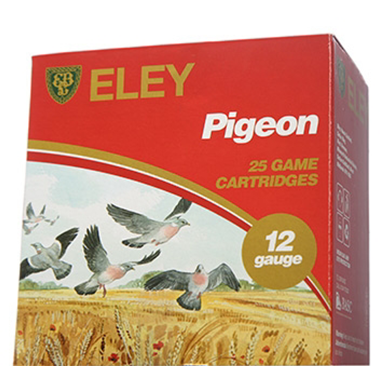Eley Pigeon 12 Bore 32 gram Plastic or Fibre Shotgun Cartridges 2.5 inch