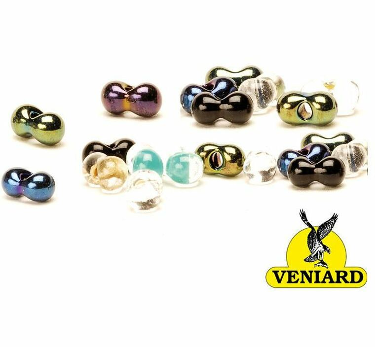 Glass Damsel Twin Eye Beads Fly Tying Material