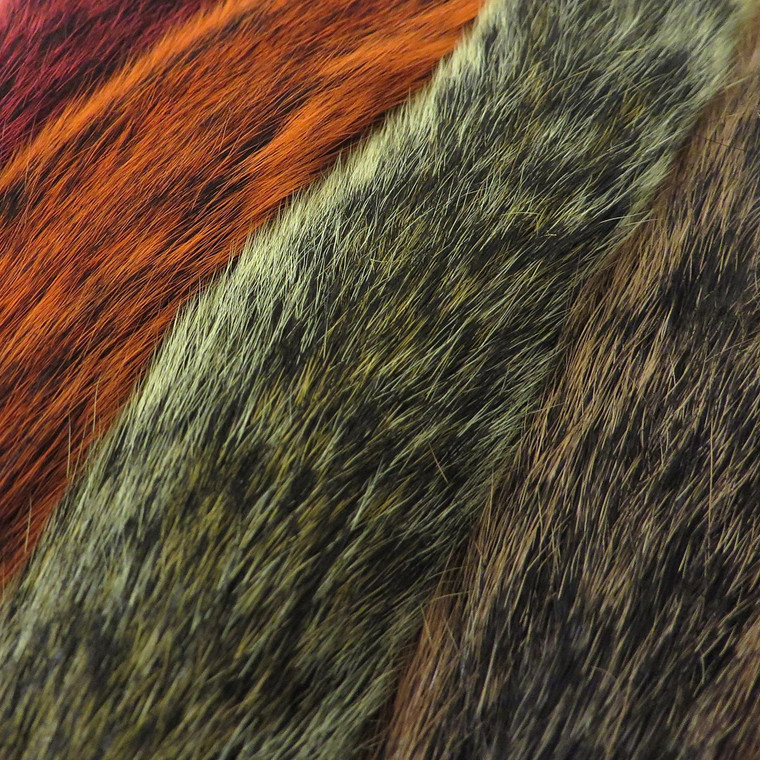 Grey Squirrel Tails Dyed