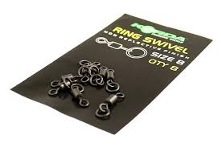 Korda Size 8 Ring Swivels-Pack of 8 Rig Components