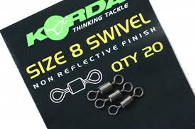 Korda Size 8 Swivels-Pack of 20 Rig Components