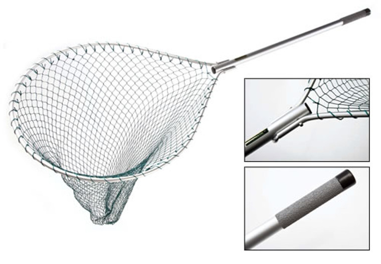 McLean Silver Series - Folding Landing Net with Hinged Handle - Keen's Tackle and Guns