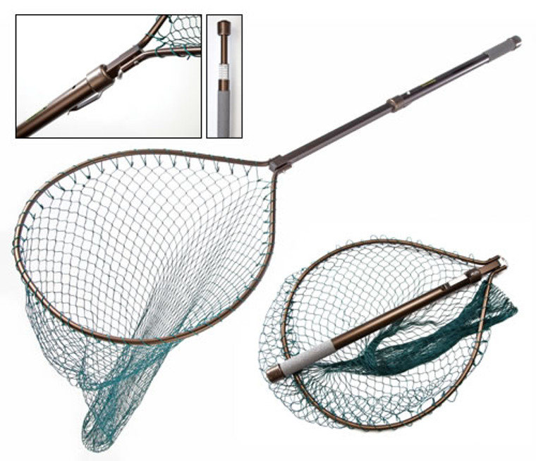 McLean Telescopic Hinged Handle Weigh Landing Net  - Keen's Tackle and |Guns