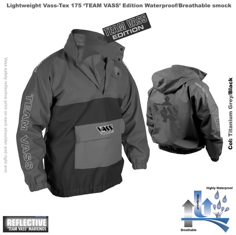 Team Vass 175 Waterproof Smock Black and Grey