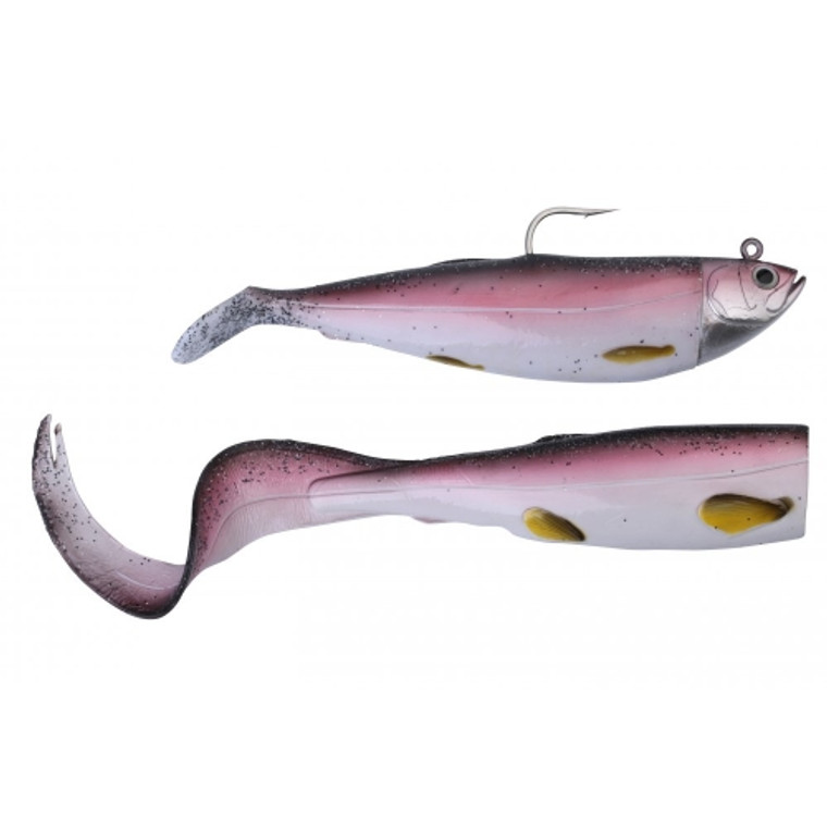 Savage Gear Cutbait Herring Paddle and Curl Tail Combo Pack - Coalfish