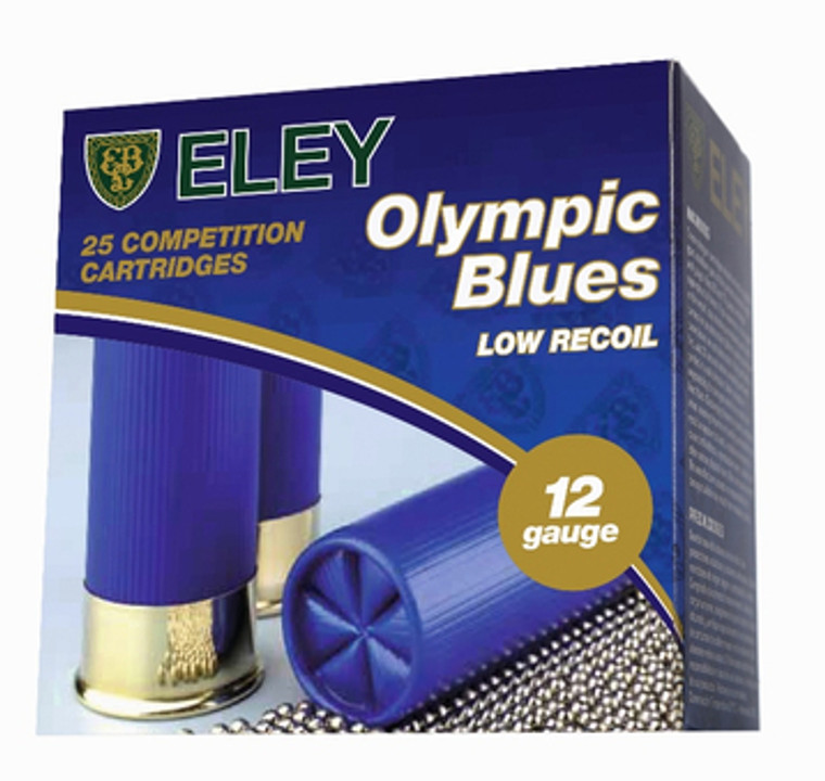 Eley Olympic Blue 28 gram Plastic or Fibre Shotgun Cartridges