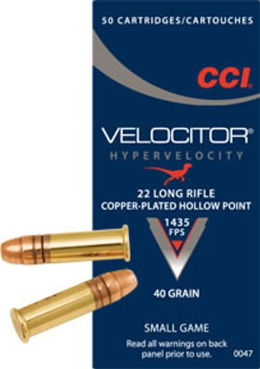 CCI Velocitor .22 Velocity Ammunition Lr